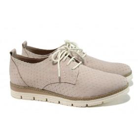 Равни дамски обувки - естествена кожа - розови - EO-9860