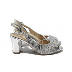Дамски сандали - естествена кожа - бели - EO-9920