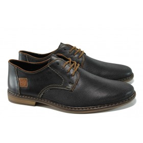 Мъжки обувки - естествена кожа - черни - EO-9929