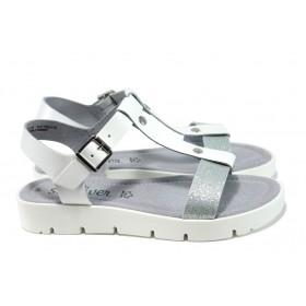 Дамски сандали - естествена кожа - бели - EO-10441