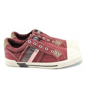 Спортни мъжки обувки - висококачествен текстилен материал - бордо - EO-10442