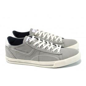 Спортни мъжки обувки - висококачествен текстилен материал - сиви - EO-10446