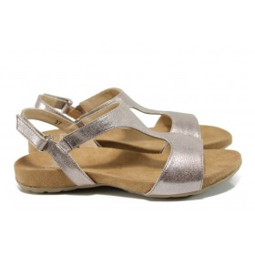 Дамски сандали - естествена кожа - розови - EO-10487