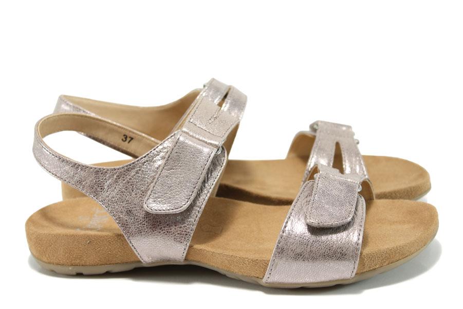 Дамски сандали - естествена кожа - розови - EO-10508