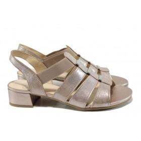 Дамски сандали - естествена кожа - розови - EO-10510