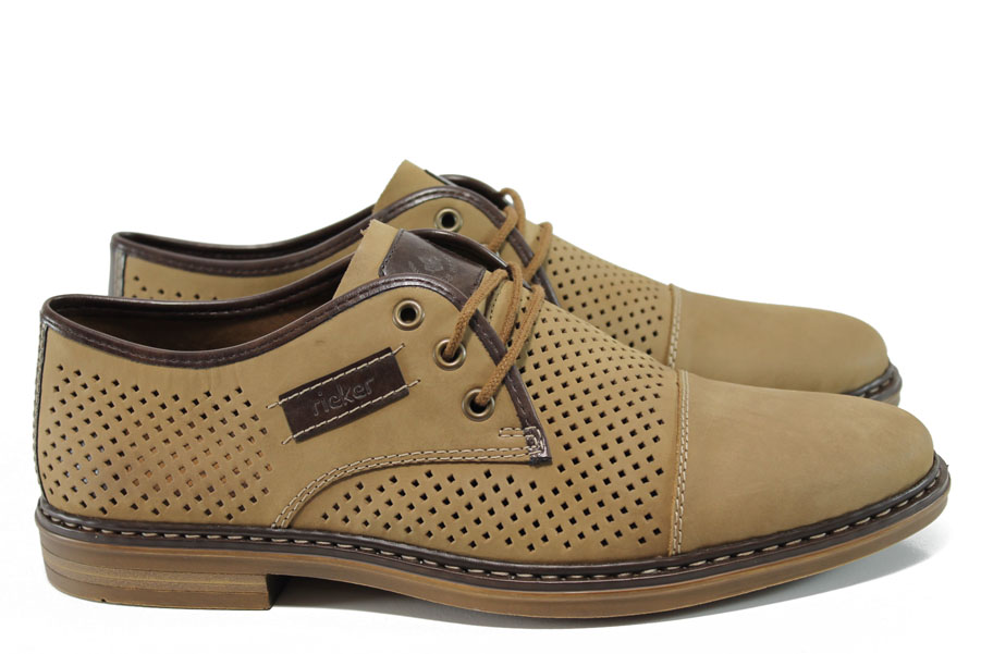 Мъжки обувки - естествена кожа - кафяви - EO-10515
