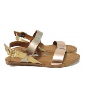 Дамски сандали - естествена кожа - розови - EO-10522