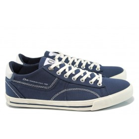 Спортни мъжки обувки - висококачествен текстилен материал - тъмносин - EO-10523