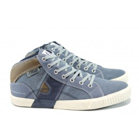 Спортни мъжки обувки - висококачествен текстилен материал - сини - EO-10531
