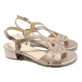 Дамски сандали - естествена кожа - розови - EO-10589