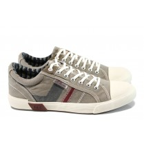 Спортни мъжки обувки - висококачествен текстилен материал - бежови - EO-10826