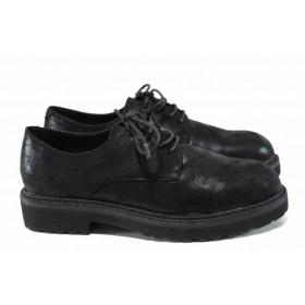 Равни дамски обувки - висококачествена еко-кожа - черни - EO-11267