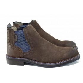 Мъжки обувки - естествен набук - кафяви - EO-11288