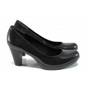 Дамски обувки на висок ток - еко кожа-лак - зелени - EO-11368