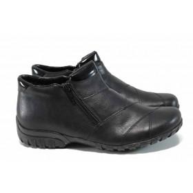Дамски боти - висококачествена еко-кожа - черни - EO-11429