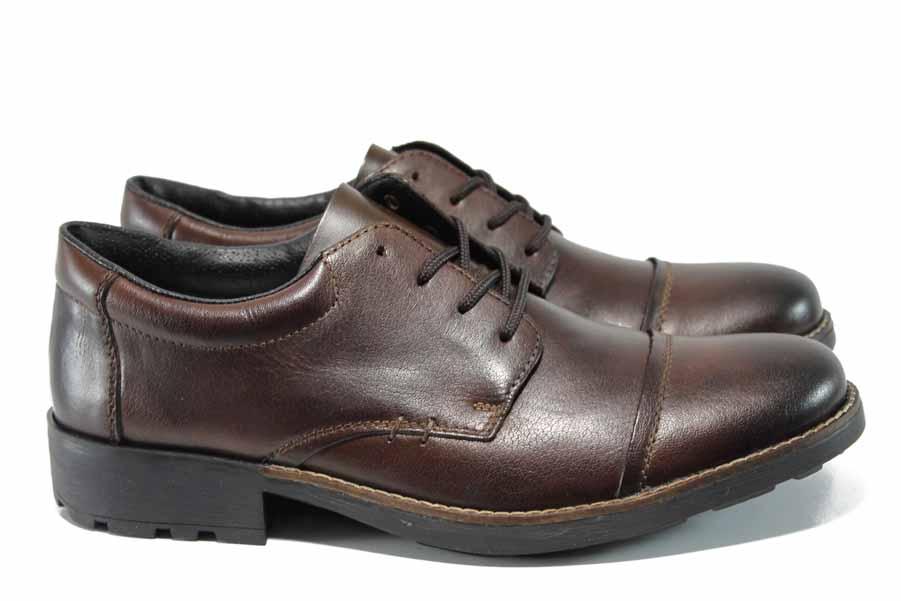 Мъжки обувки - естествена кожа - кафяви - EO-11614
