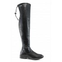 Дамски ботуши - висококачествена еко-кожа - черни - EO-11800