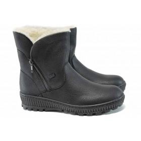 Дамски боти - висококачествена еко-кожа - черни - EO-11821