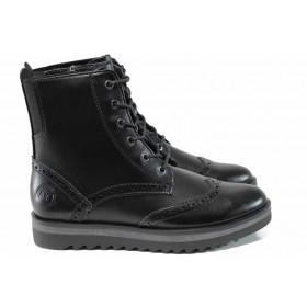 Дамски боти - висококачествена еко-кожа - черни - EO-11819