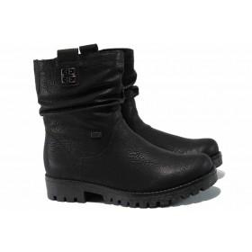 Дамски боти - висококачествена еко-кожа - черни - EO-11895