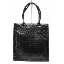 Дамска чанта - висококачествена еко-кожа - черни - EO-12297