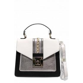 Дамска чанта - висококачествена еко-кожа - черни - EO-12305
