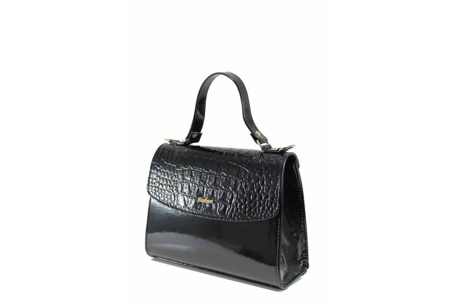 Дамска чанта - висококачествена еко-кожа - черни - EO-12307