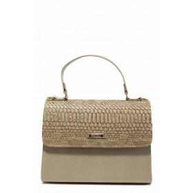 Дамска чанта - висококачествена еко-кожа - бежови - EO-12308