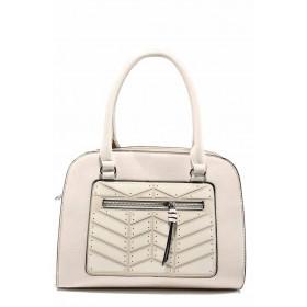 Дамска чанта - висококачествена еко-кожа - бежови - EO-12302