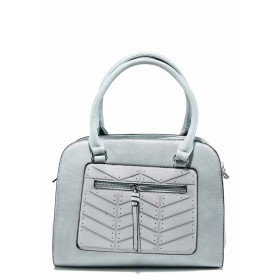 Дамска чанта - висококачествена еко-кожа - сини - EO-12304