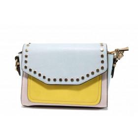 Дамска чанта - висококачествена еко-кожа - сини - EO-12309