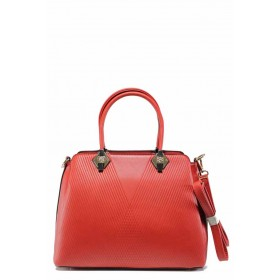 Дамска чанта - висококачествена еко-кожа - червени - EO-12300