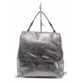 Раница - висококачествена еко-кожа - сребро - EO-12310