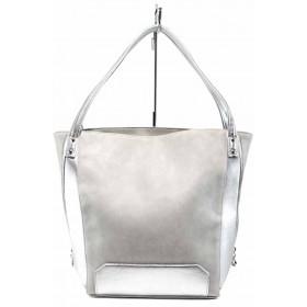 Дамска чанта - висококачествена еко-кожа - сиви - EO-12442