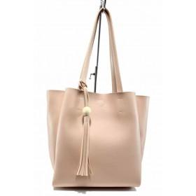 Дамска чанта - висококачествена еко-кожа - розови - EO-12440