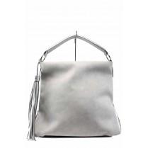 Дамска чанта - висококачествена еко-кожа - сиви - EO-12436