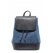 Раница - висококачествена еко-кожа - сини - EO-11623