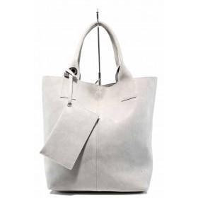 Дамска чанта - висококачествена еко-кожа - сиви - EO-12485