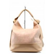 Дамска чанта - висококачествена еко-кожа - розови - EO-12486