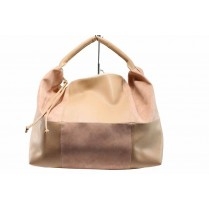 Дамска чанта - висококачествена еко-кожа - розови - EO-12689