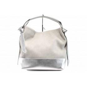 Дамска чанта - висококачествена еко-кожа - сиви - EO-12686