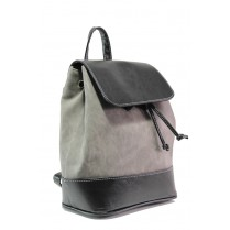Дамска чанта - висококачествена еко-кожа - сиви - EO-13290