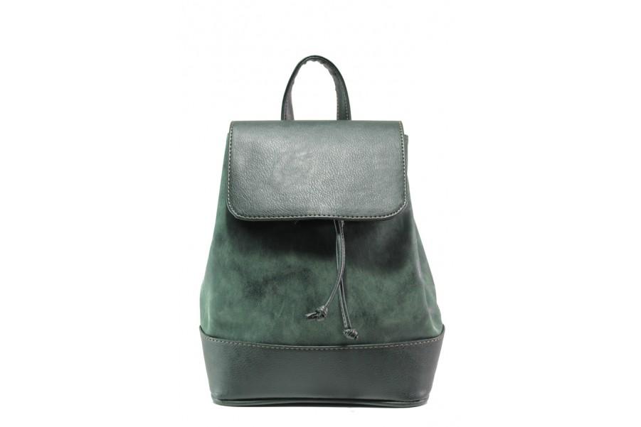 Дамска чанта - висококачествена еко-кожа - зелени - EO-13291