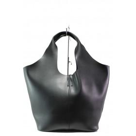Дамска чанта - висококачествена еко-кожа - черни - EO-13283