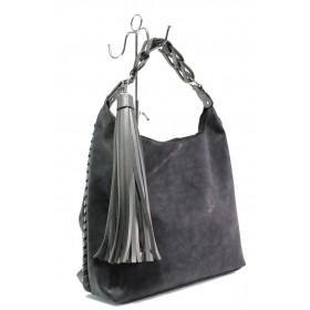 Дамска чанта - висококачествена еко-кожа - черни - EO-13289