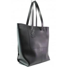 Дамска чанта - висококачествена еко-кожа - черни - EO-13282