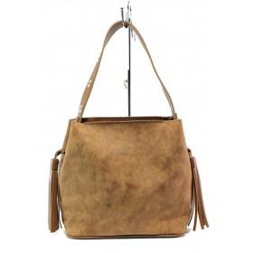 Дамска чанта - висококачествена еко-кожа - кафяви - EO-13352