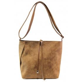 Дамска чанта - висококачествена еко-кожа - кафяви - EO-13351