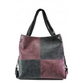 Дамска чанта - висококачествена еко-кожа - черни - EO-13360