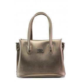 Дамска чанта - висококачествена еко-кожа - светлокафяв - EO-13435